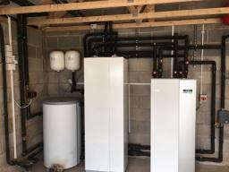 12 KW Ground Source Heat Pump and 200L Cylinder