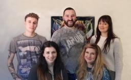 The Studio Team - 3 Artists & 2 Piercers