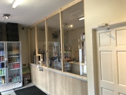 Our shop is fully fitted with safety screens