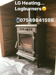 Logburner installation in Derby