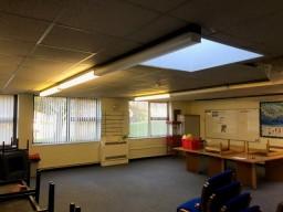 Lighting in School Staff Room Before