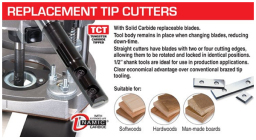 Router bits with replaceable tips