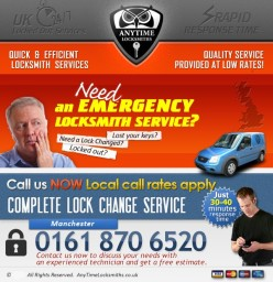 Anytime Locksmiths | 0161 870 6520