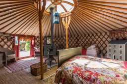 inside our yurt - sleeps 4