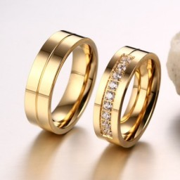 Gold Promise Rings for Couples
