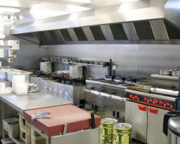 Catering equipment supply and vent/extract canopy