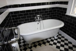 Black and white Wall Tiling, Bridgwater, Somerset
