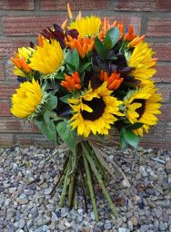 We make different coloured Hand Tied bouquets.