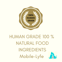 100% Human Grade Ingredients and GMO free