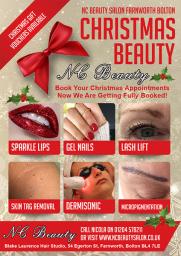 NC Beauty Salon Christmas Flyer