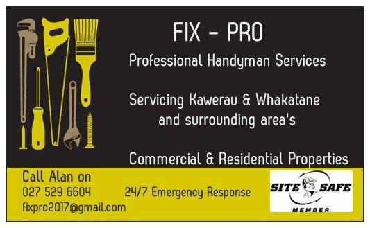 FIX - PRO Professional Handyman Services 92, Kawerau, Bay of