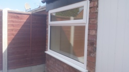 Window fitted to conservatory