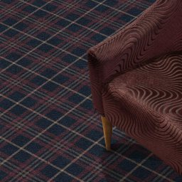 TARTANESQUE GLEN SHIEL CARPET ROOMSHOT MOSELEY INT