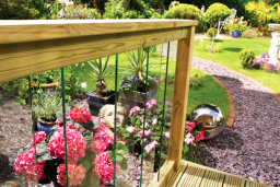 Traditional outdoor glass balustrade