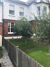 Artificial Grass fitted in a front garden