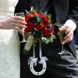 Red Rose And Thistle wedding flowers