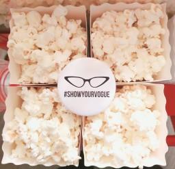 aylin sweets VOGUE magazine branded popcorn boxes