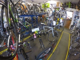 50+ bikes on display in store, from £300 to over £1,000.
