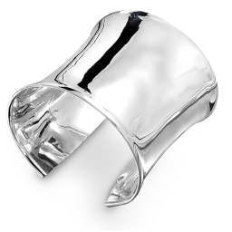 Ladies Contemporary 925 Sterling Silver Cuff by Silver Nomad Jewellery UK