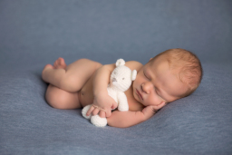Newborn Baby with bear
