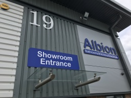 New Showroom entrance signage