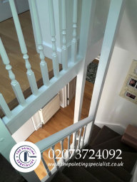 Staircase & Banister Painted in London