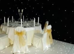 Star cloth with LED dance floor