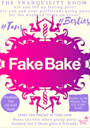Fake Bake Spray Tan Parties
