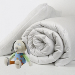 Hollow Fibre Filled 9 Tog Cot Bed Kids Duvet And Pillow Sets