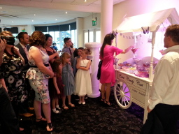 Wedding Guests enjoy the SWEET CART