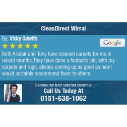 CleanDirect Wirral 5-Star Carpet Cleaning Review