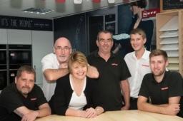 The Dream Doors Oxford team: Stuart, Mike and Elaine Hurley, Geoff, Paul and Sam