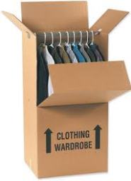 wardrobe box from moving solutions