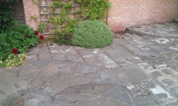 Patio cleaning and patch pointing Nottingham .
