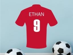 Personalised Football Shirt Sticker