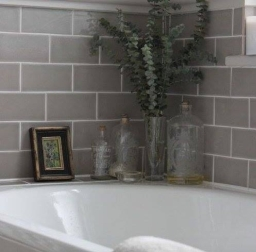 Flat Brick Ceramic Tiles 100 X 200 Mm These Lovely Grey Tiles Offer A Stylish Neutral Background And Would Suit A Traditional Or Modern Bathroom