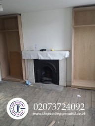 Before Fireplace and Floors was Painted in London