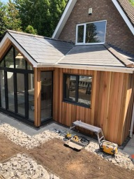 Cedar clad extension in Edgbaston, Birmingham