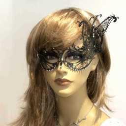 Masquerade mask on female face
