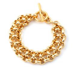 Stunning classic 'old gold' bracelet in Aluminium.