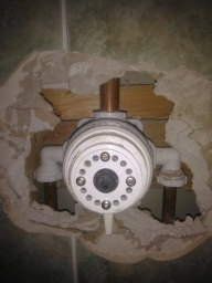 leaking thermostatic shower valve busted internal