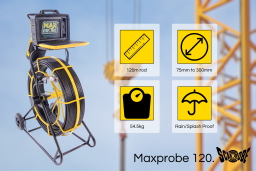 The Maxprobe 120 drain camera