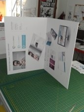 folding display panels on 5mm foamboard