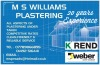 M S WILLIAMS PLASTERING NORTH WALES