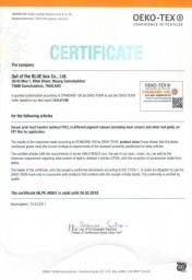 Oeketex Certificate
