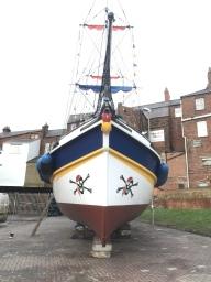 Bridlington pirate ship repaint