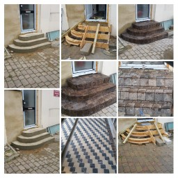 Streatham Stairs Construction and Stone Covering