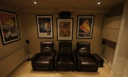 This home cinema room upgrade project was completed in December 2013