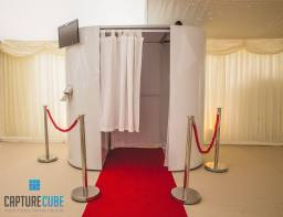 Our ever popular photo booth with gloss white skin