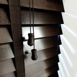 Cheap Next Day Dark Wenge Wooden Venetian Blinds With Tapes